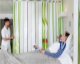 Hygienic privacy screen for patient intimacy